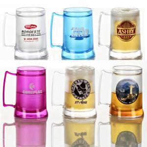 Madson Brindes - Caneca Gel para chopp e cerveja, injetada em PVC Cristal em diversas cores.