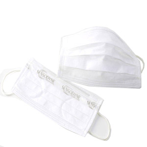 madson-brindes - Máscara descartável em TNT branco, com embalagem personalizável.
