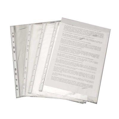 Artik - Envelope plástico para Fichário. Em Polipropileno formato A4 furação universal com 11 furos tarja branca de reforço plástico na região dos furos.