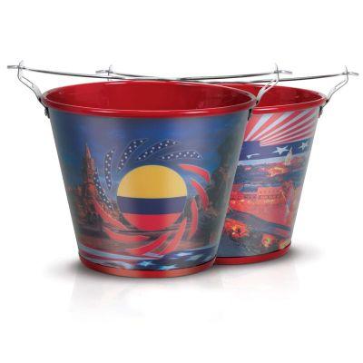 Alumiart Falcão - balde USA e Colômbia