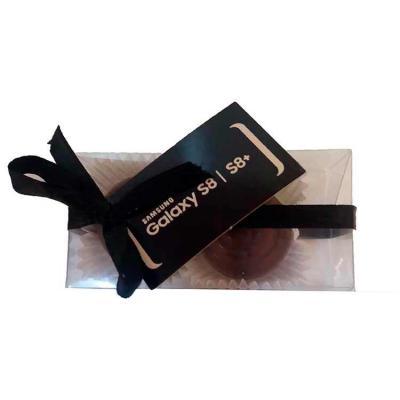Doce Pecado Chocolates Especiais - Caixa de acetato personalizada com confete