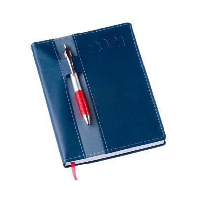 Elo Brindes - Ela tem capa em couro sintético, miolo de agenda diária 2x2 cores, 344 páginas em Off-set 63g com mapa 4x4 cores e índice telefônico e planejamento, d...