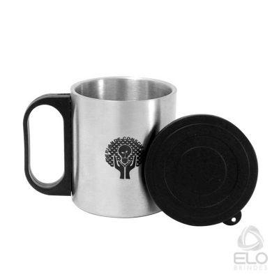 elo-brindes - Caneca 200ml, inox escovado