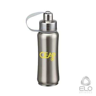 Elo Brindes - Cantil em inox com capacidade de 500 ml.