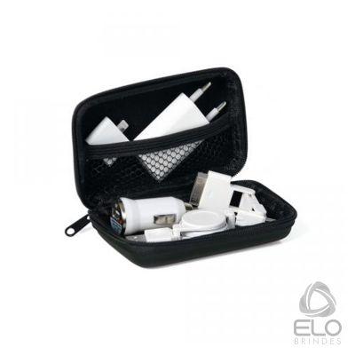 Elo Brindes - Conjunto para carregar celulares com pasta