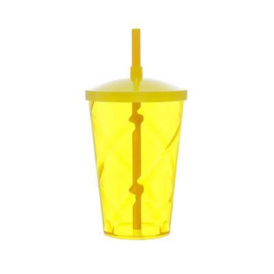 Elo Brindes - Com capacidade de 700ml, o copo plástico com tampa e canudo personalizado tem detalhe de espiral e é uma ótima dica de brinde corporativo para cliente...
