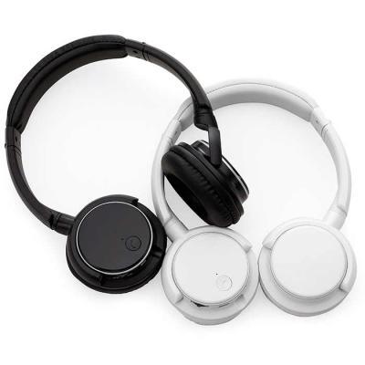 Elo Brindes - Fone de ouvido / headphone bluetooth personalizado para brindes criativos e úteis! Com haste ajustável, fones giratórios e função rádio e microfone. P...