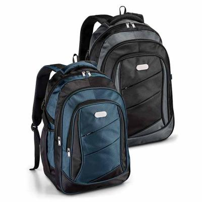 elo-brindes - Com ela, seus clientes e colaboradores poderão transportar seus equipamentos com praticidade e estilo. Disponível na cor azul ou preta, conta com comp...