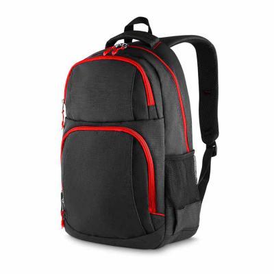 elo-brindes - Disponível na cor azul, preta ou vermelha, conta com 2 bolsos na frente, 2 bolsos laterais, porta notebook, porta cartões e canetas, alça de mão. Toda...