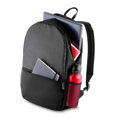 elo-brindes - Com ela, seus clientes e colaboradores poderão transportar seus equipamentos com praticidade e estilo. Disponível na cor preta, conta com 1 bolso cent...