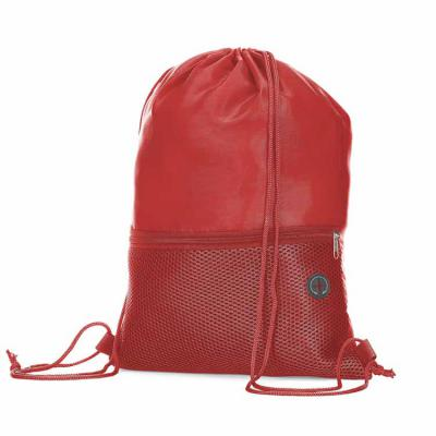 Elo Brindes - Com ótimo custo-benefício, a mochila saco está disponível na cor branca, preto, vermelho, azul e verde, possui bolso frontal e saída para fone de ouvi...