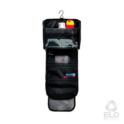 Elo Brindes - Necessaire preta em poliéster 600D 5L