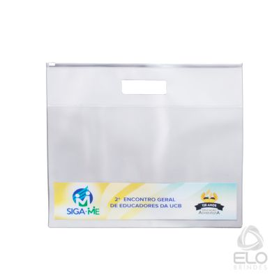 Elo Brindes - Pasta envelope em PVC personalizada.
