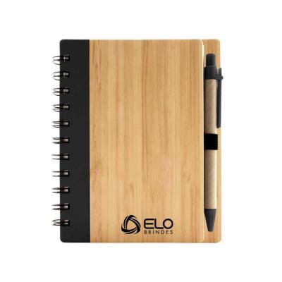 Elo Brindes - Caderno ecológico personalizado / porta-recado