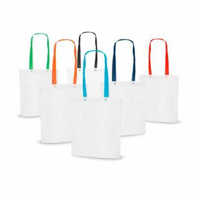 Elo Brindes - Prática e funcional, a sacola personalizada fabricada em Non-woven 80 g/m² é uma ótima pedida para seu evento ou ação de promocional. Ela é termo-sela...