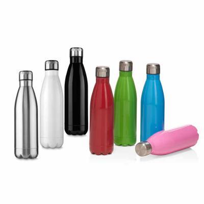 Elo Brindes - Material: Aço inox. Cor: Preto, prata, branco, vermelho, verde, azul claro e rosa. Dimensões: 26,5 x 7,3 cm (AxL). Capacidade: 750 ml. Embalagem: Caix...