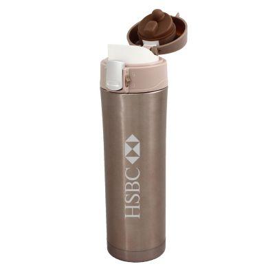 Elo Brindes - Squeeze térmico, 450 ml e mantem a temperatura do líquido por 4 a 5 horas.
