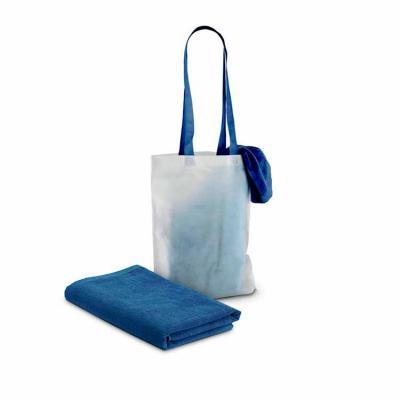 elo-brindes - Produzida em veludo de algodão 320 g/m² nas cores azul, laranja e verde, conta com padrão impresso e é fornecida com sacola em non-woven 80g/m², onde...