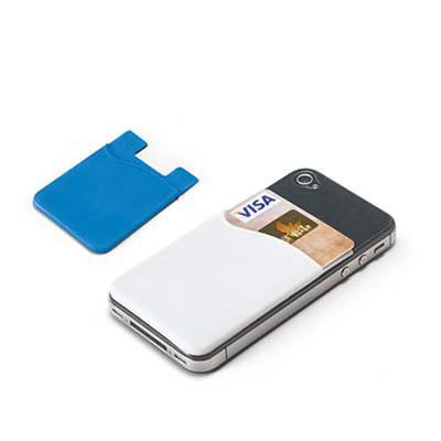globo-brindes - Porta cartões para celular Emborrachado