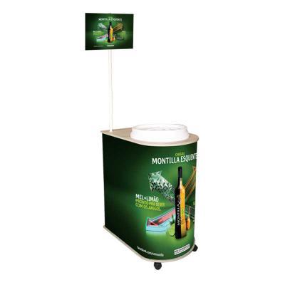 Promoline Brindes Personalizados - Balcão de Degustação Modelo Quality com Cooler isotérmico com tampa e capacidade para 75 latas- corpo produzido em PP na espessura de 2 mm com tampo e...