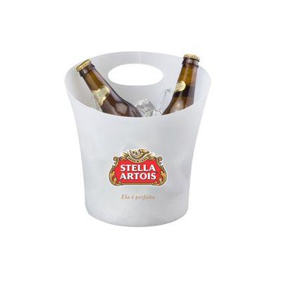 Promoline Brindes Personalizados - Balde de gelo de PP 4,5 litros para garrafas grandes