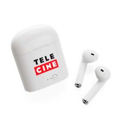 Promoline Brindes Personalizados - Fone Auricular Bluetooth Estojo Carregador