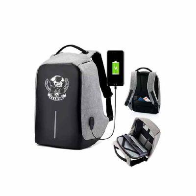Promoline Brindes Personalizados - Mochila Antifurto USB Importada