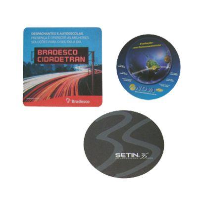 Promoline Brindes Personalizados - Mouse pad redondo, oval ou quadrado 19x19 cm