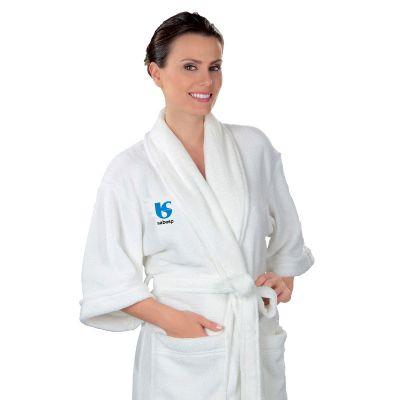 Promoline Brindes Personalizados - Roupão fleece em microfibra veludo tamanho M
