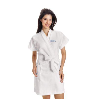 Promoline Brindes Personalizados - Roupão feminino veludo verão bordado M.