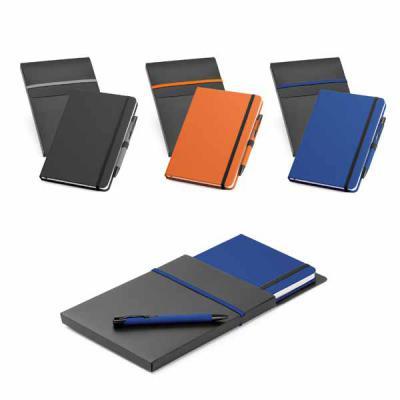 Queen's Brindes - Kit de caderno e esferográfica