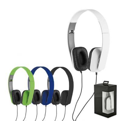 Queen's Brindes - Fone de ouvido dobrável. ABS. Cabo de 1,45 m com ligação stereo de 3,5 mm. Fornecido em caixa de oferta. Fechados: 100 x 155 x 50 mm | Caixa: 110 x 17...