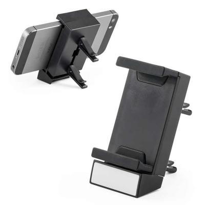 Queen's Brindes - Porta celular para carro. ABS. 40 x 78 x 25 mm. Gravação em serigrafia