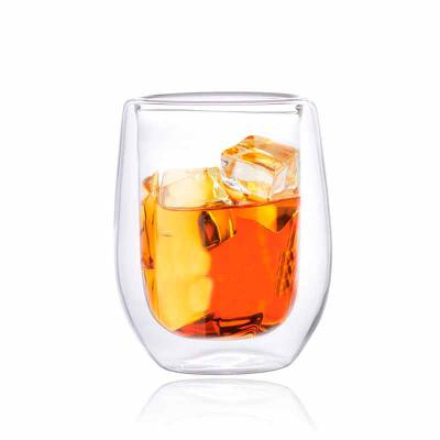 Queen's Brindes - Copo Cristal Double Wall  Whiskye - 240ml - Elegance