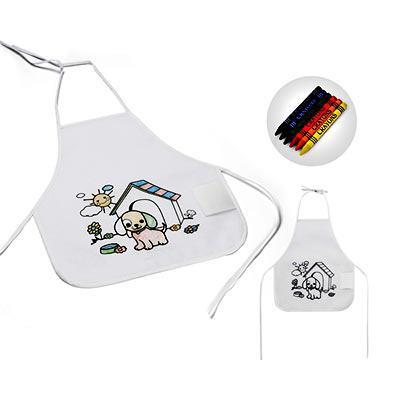 Queen's Brindes - Avental de criança para colorir