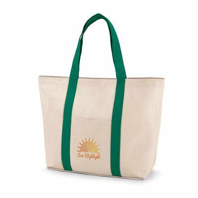 Queen's Brindes - Sacola. 100% algodão canvas: 280 g/m². Bolso bolso frontal e bolso interior com zíper. Com fecho magnético e alças de 60 cm. 530 x 380 x 170 mm