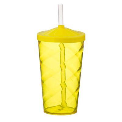 Servgela - Copo com canudo de acrílico para festa