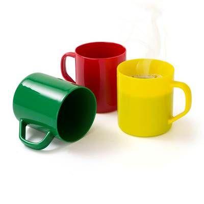 Servgela - Caneca plástica personalizada  CAPACIDADE: 400 ml Matéria prima: Polipropileno Cor: Branco, azul, amarelo, vermelho, verde, laranja e preto Embalagem:...