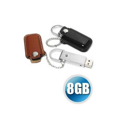 Servgela - Pen drive 8 gb em Couro para Brinde Personalizado