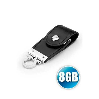 Servgela - Pen drive Chaveiro 8 gb em Couro
