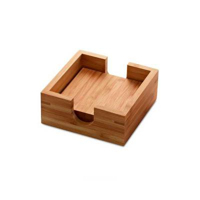 Servgela - Porta Copos de Bambu Personalizados