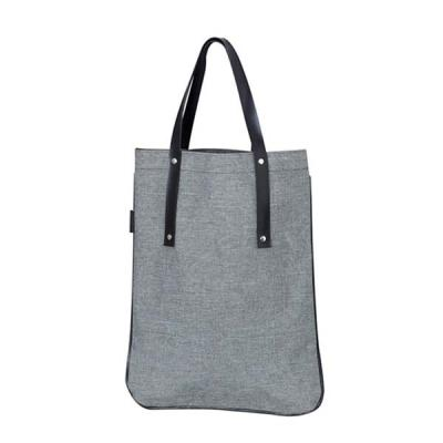 Unibag - Sacola Bolsa em polyester Linho com detalhes em couro