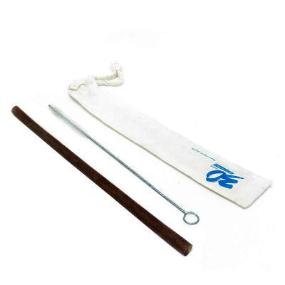 SP Ecologia - Canudo de Fibra de coco desenvolvido pela nossa equipe, acompanha escovinha para limpeza e saquinho de algodão. Canudo e saquinho personalizáveis. Pro...