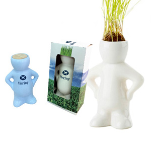 SP Ecologia - Boneco da sorte personalizado, feito em cerâmica. Seu cabelo cresce e você vai cortando.