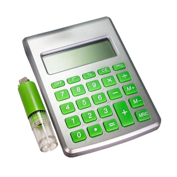 SP Ecologia - Calculadora ecológica movida à água, personalizado até 4 cores com UV. Medidas 11 x 8cm