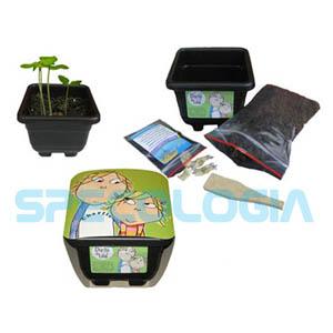 SP Ecologia - Kit para cultivo personalizado com os personagens Charlie e Lola.
