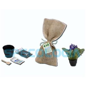 SP Ecologia - Kit para cultivo com juta.