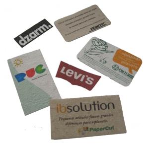 SP Ecologia - Papel semente com gravação personalizável para crachás ,marca páginas e cartões de visitas.