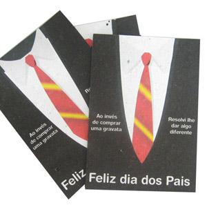 SP Ecologia - Papel semente com gravação personalizada para o dia dos pais.