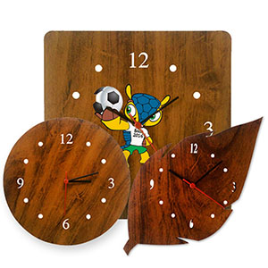 SP Ecologia - Relógio de parede com design diferenciado em MDF de 6 mm